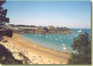 Cancale plage du camping